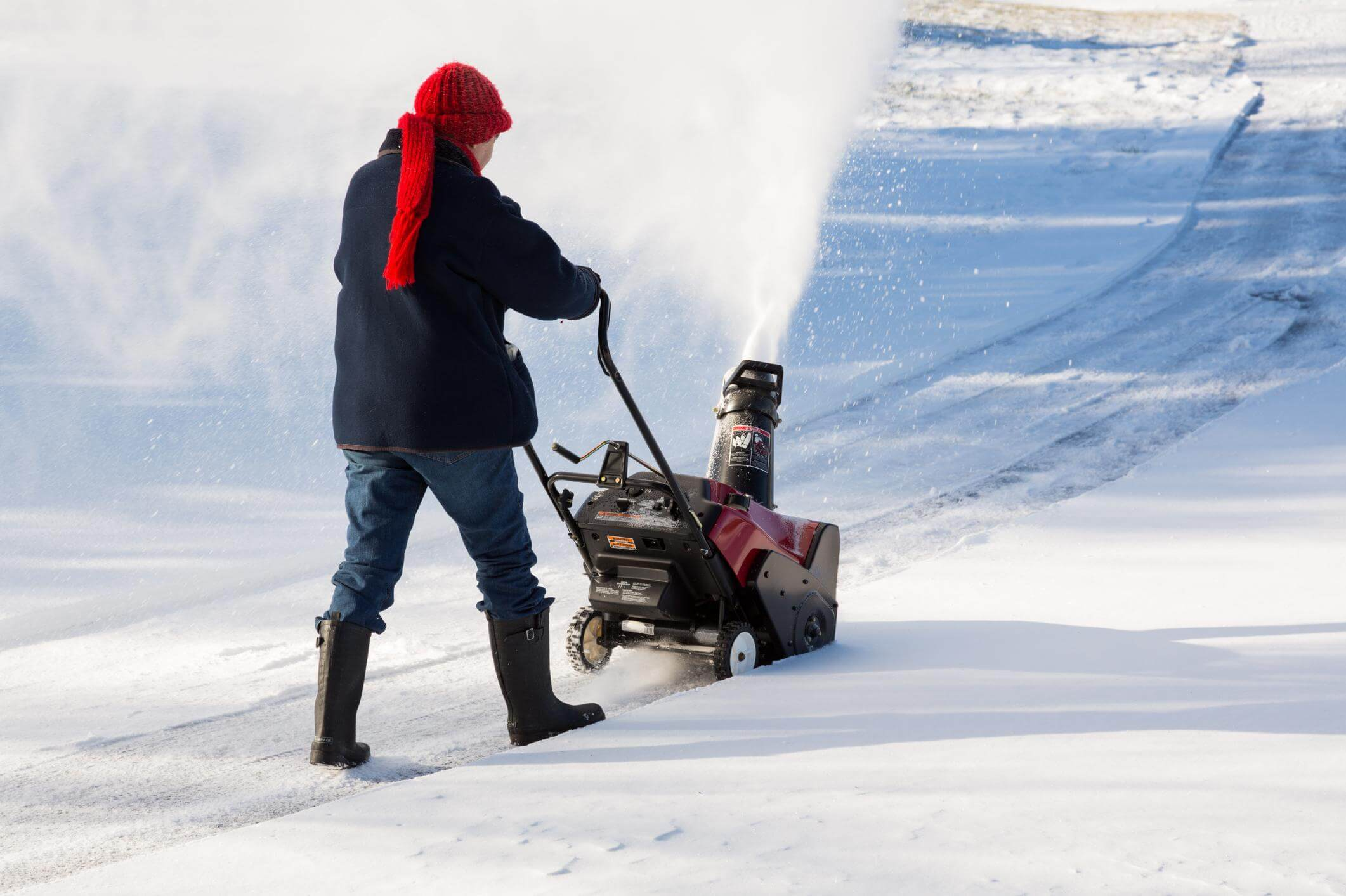 This is a picture of a driveway snow removal.