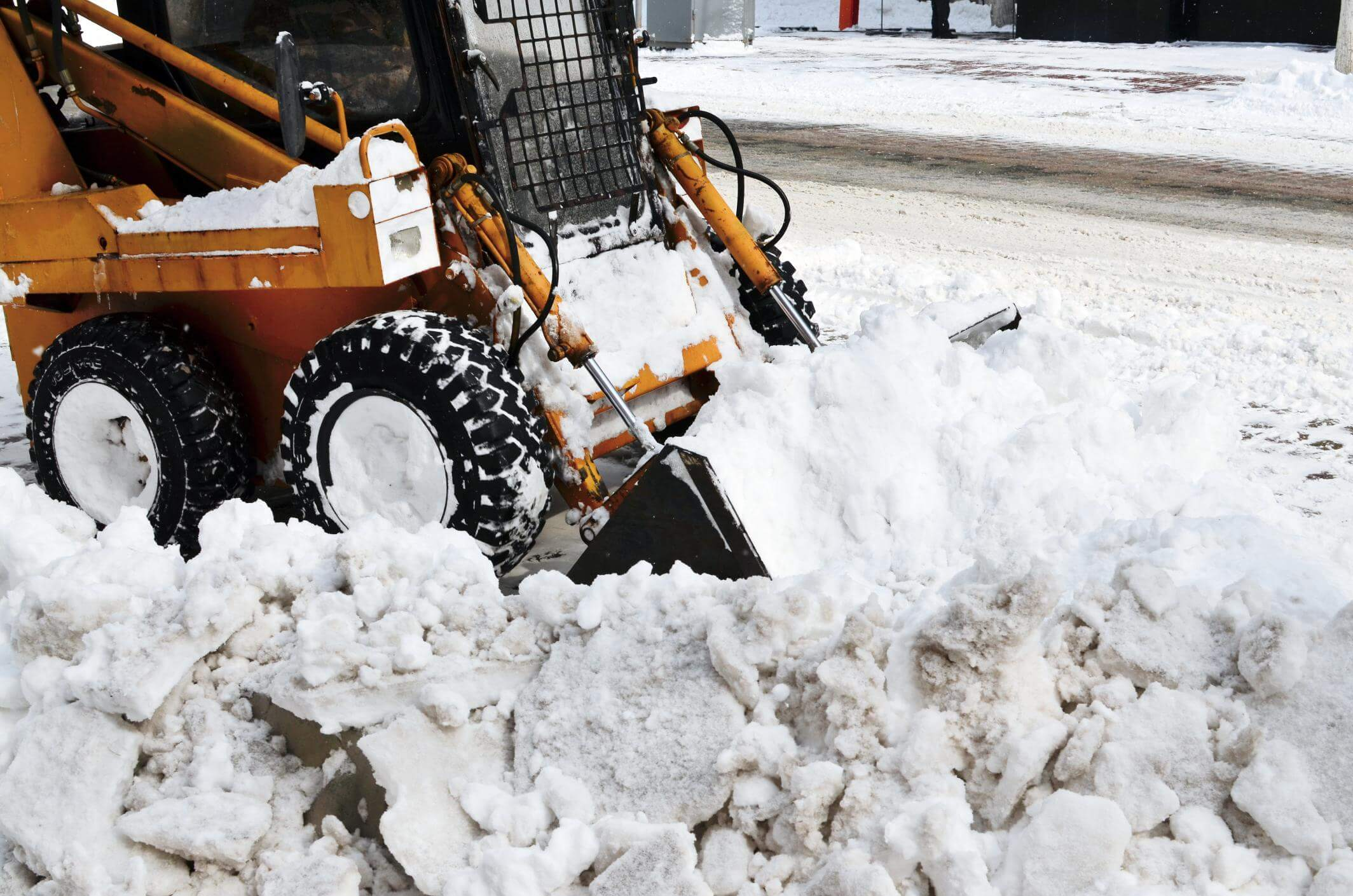 This is a picture of residential snow removal.